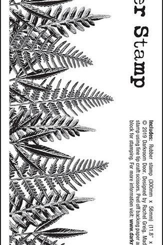 """Darkroom Door - """"Leaves"""" Border Rubber Stamp"""