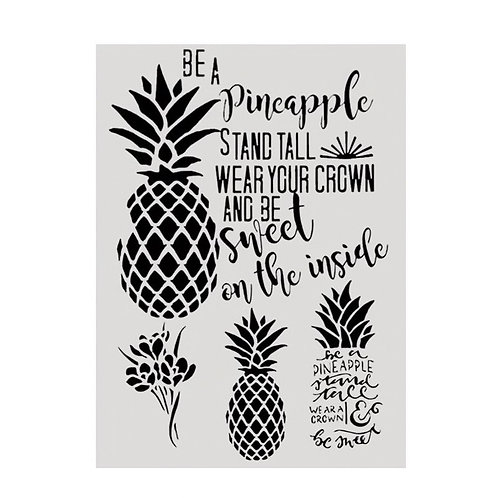 A4 Stencil Pineapples