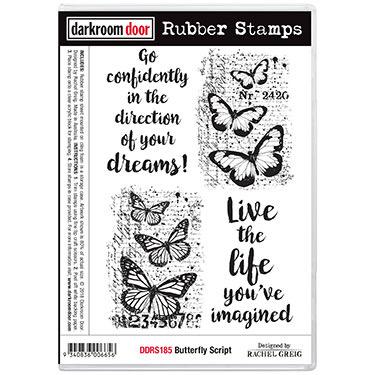 DDRS185-RubberStampSet-ButterflyScript