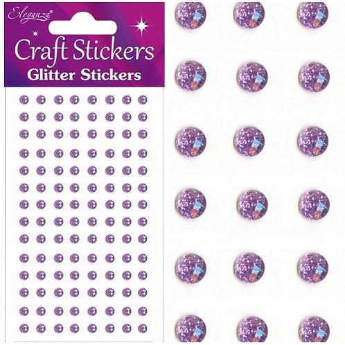 Sparkle Gem - Craft Stickers Lilac 8mm 35 pieces