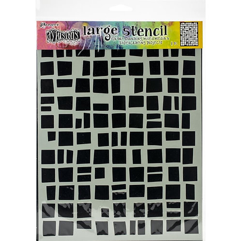 "Dyan Reaveley's Dylusions Stencils 9""X12"" -""Bettys Block"""