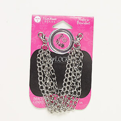 "7"" Pewter Bracelet for charms"