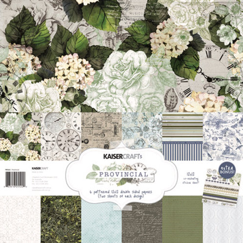"Kaisercraft 12x12 Paper Pack with Bonus Sticker Sheet ""Provincial"""