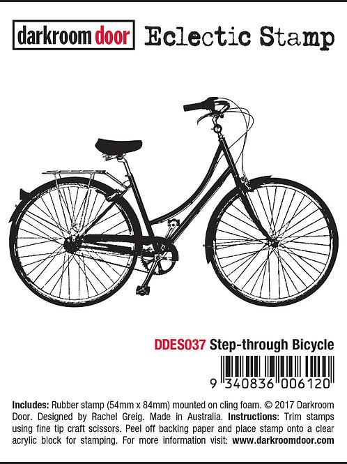 """Darkroom Door - """"Step-through Bicycle"""" Eclectic Rubber Stamp"""
