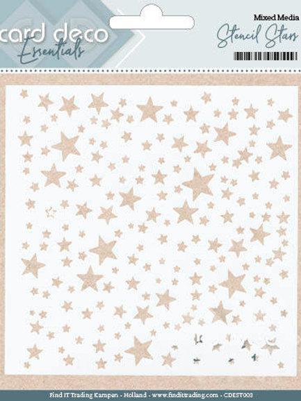 Card Deco Essentials - Stencil Stars 5'x5'