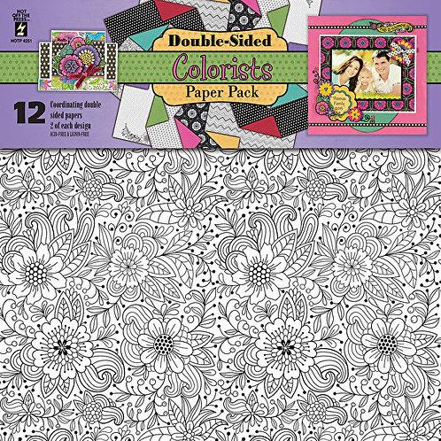 """Colourists"" 12x12  Scrapbooking  Project Paper 12p"
