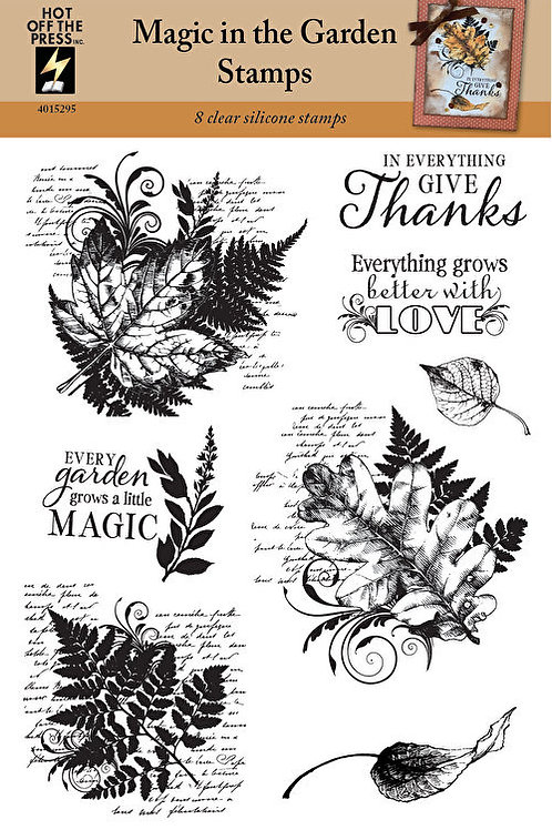 """""""Magic in the Garden"""" Stamps - 8 Piece Clear Silicon Stamp Set"""