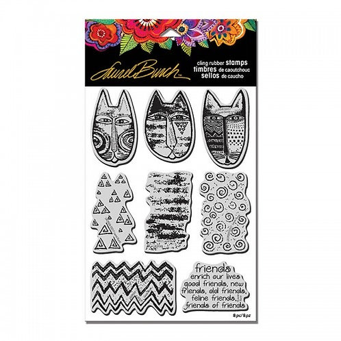 Tribal Cats Stampendous Cling Mount Rubber Stamps