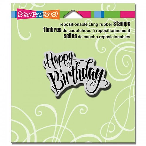 Penned Birthday Stampendous Cling Mount Rubber Stamps