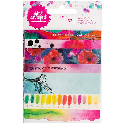 Jane Davenport Mixed Media Washi Tape Book W/5 Sheets