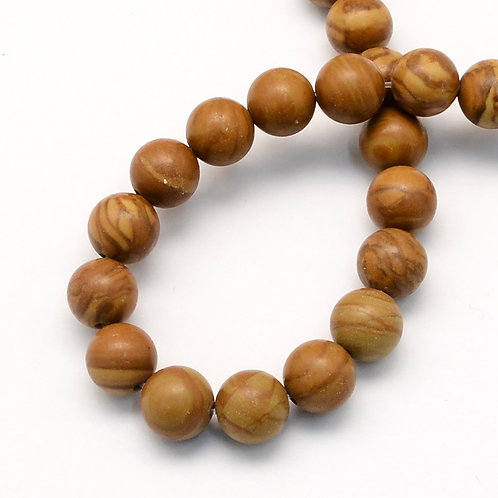 8MM Tiger Skin Jasper Round Gemstone Beads.