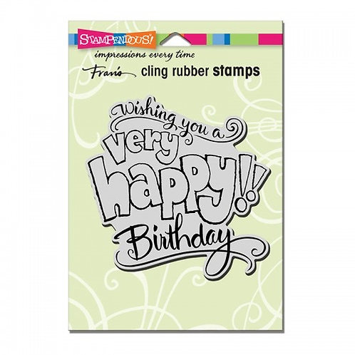 Great Big Happy  Stampendous Cling Mount Rubber Stamps