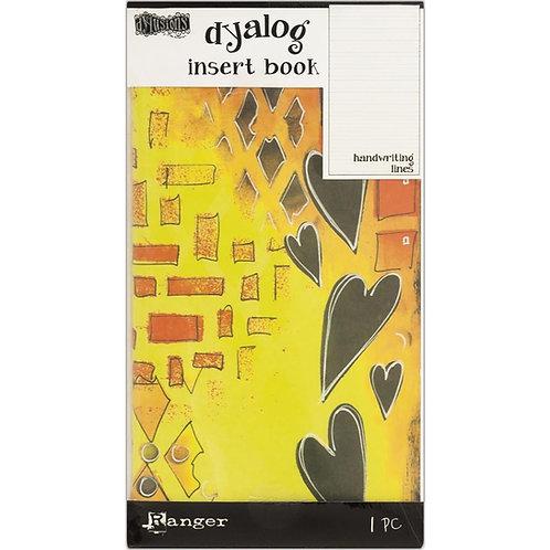 "Dylusions Dyalog Insert Book - ""Handwriting Lines"""