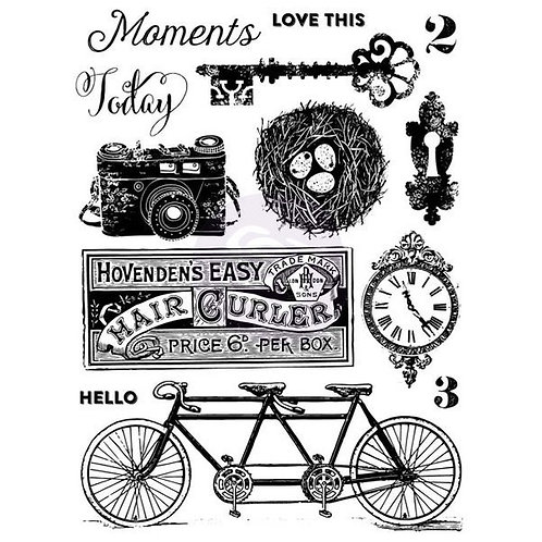 Prima Marketing Clear Stamps 13 pcs