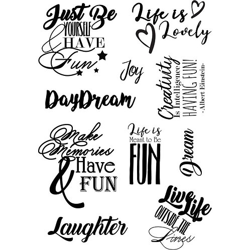 Debbi Moore Life Quotes A5 Stamp Sheet