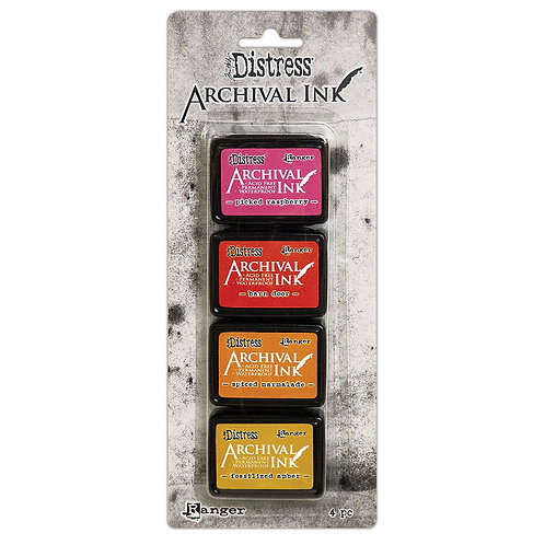 Distress Archival Ink 4pc Mini Ink Pads by Ranger KIT 1