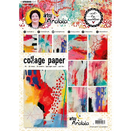 Studio Light A4 Collage Paper Pad  20/Pkg