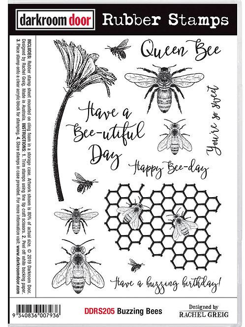 """Darkroom Door - """"Buzzing Bees""""  Cling Rubber Stamp"""