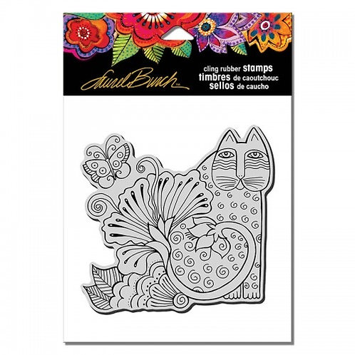Blossoming Feline Stampendous Cling Mount Rubber Stamps