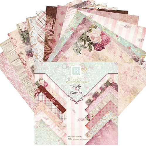 """6x6 inch """"Flowers & Feathers"""" Design Paper Pack"""