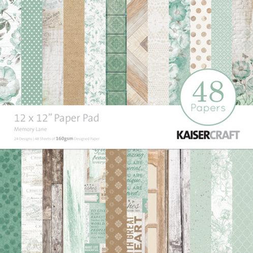 "Kaisercraft  12""x 12"" Paper Pad 48 pages ""Memory Lane"""
