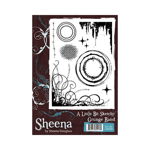"""A Little Bit Sketchy - Grunge Band"" Sheena Douglass Unmounted Rubber Stamps"