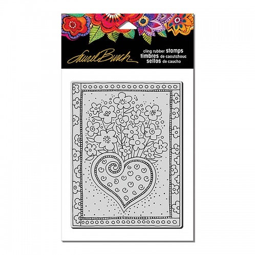 """""""Heart Frame""""  Stampendous Cling Mount Rubber Stamps"""