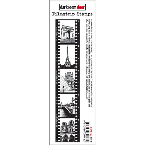 Paris - Darkroom Door Sentiment Rubber Stamp