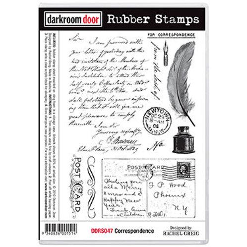 """Darkroom Door - """"Correspondence""""  Rubber Stamp"""