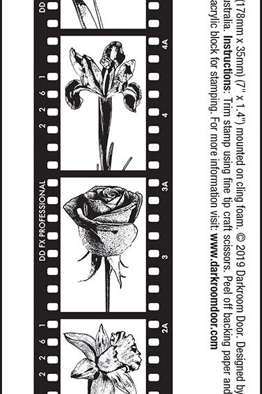 "Darkroom Door - ""Flowers"" Sentiment Rubber Stamp"