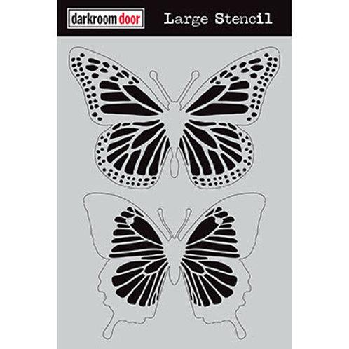 """Darkroom Door Large Stencil - 9x12 """"Butterflies"""""""