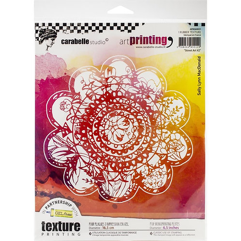 "Carabelle Studio Art Printing Rubber Texture Plate ""Street Art 2"""