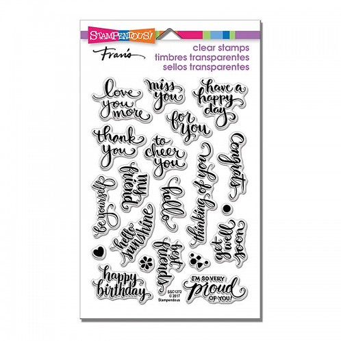 """Brushed Wishes Stampendous Clear Stamps by Laurel Birch 4""""x6"""""""