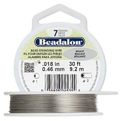 Beadalon Nylon & Stainless Steel Bead Stringing Wire 0.46mm
