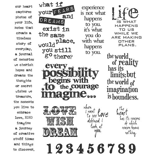 """""""Stuff to Say"""" Tim Holtz Cling Stamps 7""""X8.5"""" by Stampers Anonymous"""