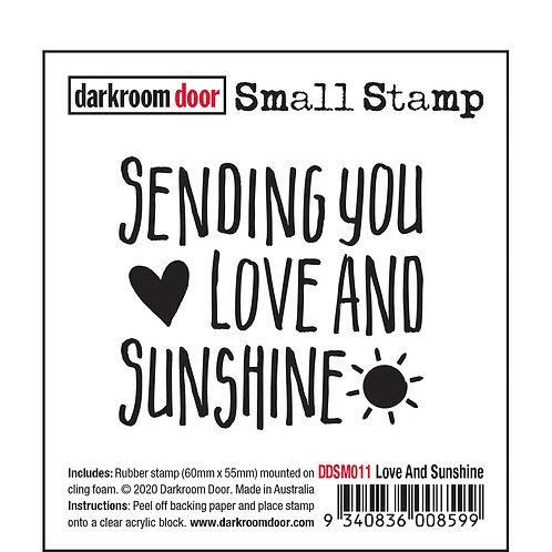 """Darkroom Door Small Stamps - """"Love And Sunshine"""""""