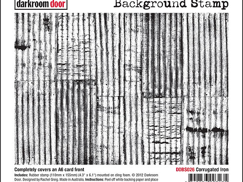 "Darkroom Door - ""Corrugated Iron""   Background Rubber Stamp"