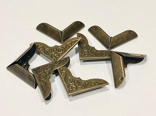 8pcs Antique Bronze Scrapbook / Journal Metal Corner Protector