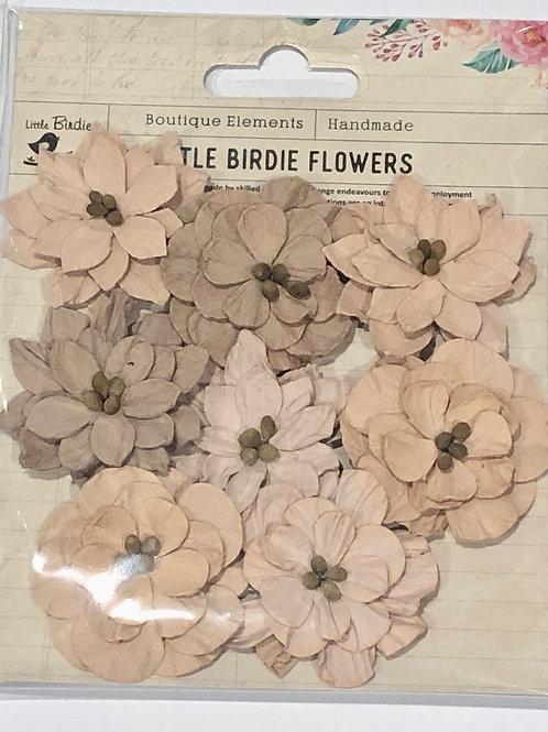 Little Birdie Serenade Dusty Rose Flowers 8pcs