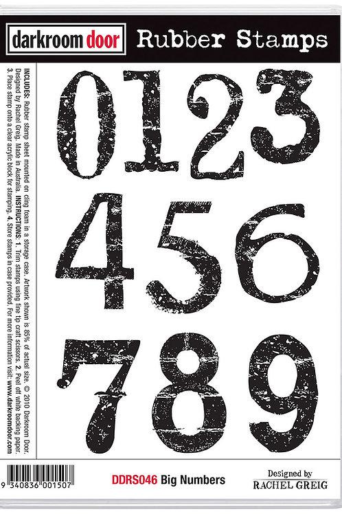 """Darkroom Door - """"Big Numbers""""  Cling Rubber Stamp"""