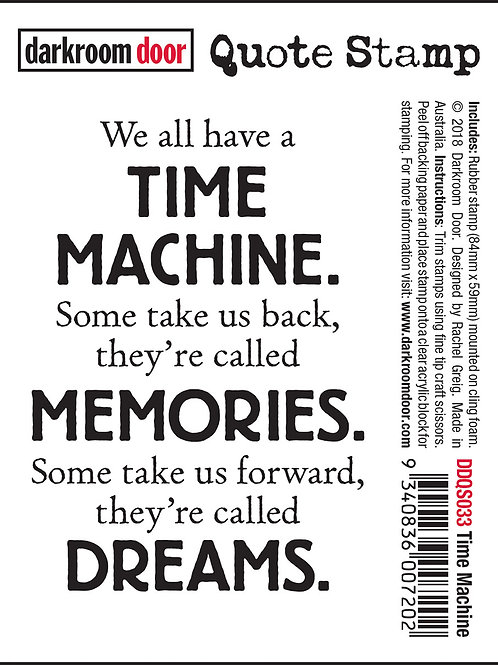 "Darkroom Door - ""Time Machine"" Quote Rubber Stamp"