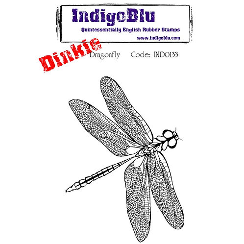 "IndigoBlu-Cling Mounted Stamp ""Dragonfly- Dinkie"""