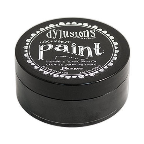 "Dylusions Blendable Acrylic Paint 2oz - ""Black Marble"""