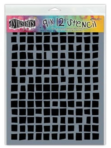 """Dyan Reaveley's Dylusions Stencils 9""""X12"""" """"Squares"""""""