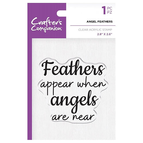 """Angel Feathers Clear Acrylic Stamps  2.8""""x 2.6"""""""