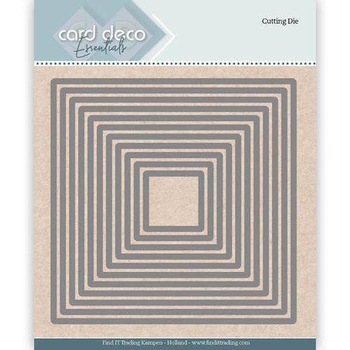 Card Deco Square Cutting Dies 11pcs