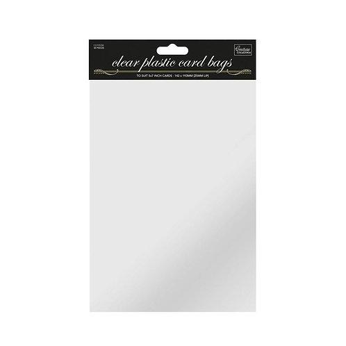 5 X 7 Clear Self Seal Cellophane Card Bag 50pk