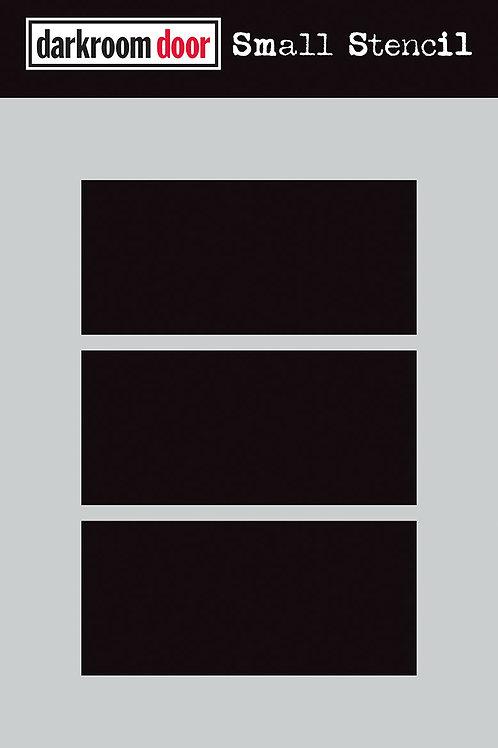 """Darkroom Door Stencil - """"Boxed 3 Up""""   4.5"""" x 6"""""""
