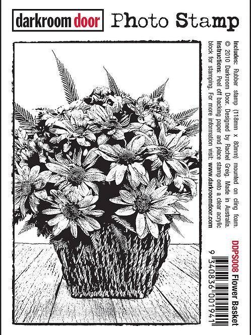 """Darkroom Door - """"Flower Basket"""" Photo Rubber Stamp"""