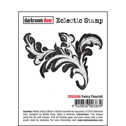 Fancy Flourish -Darkroom Door Eclectic Rubber Stamp